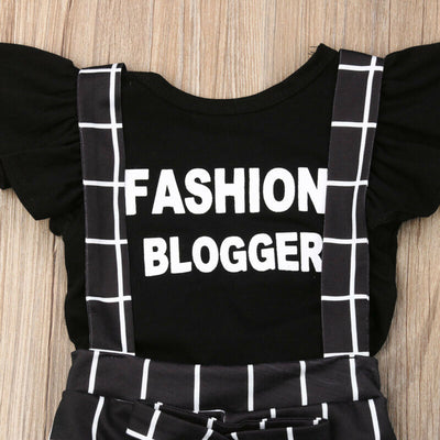 Plaid Fashion Blogger Overall Set - The Childrens Firm