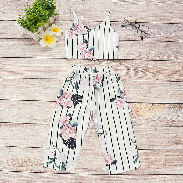 Floral Vest with Harem Pants - The Childrens Firm