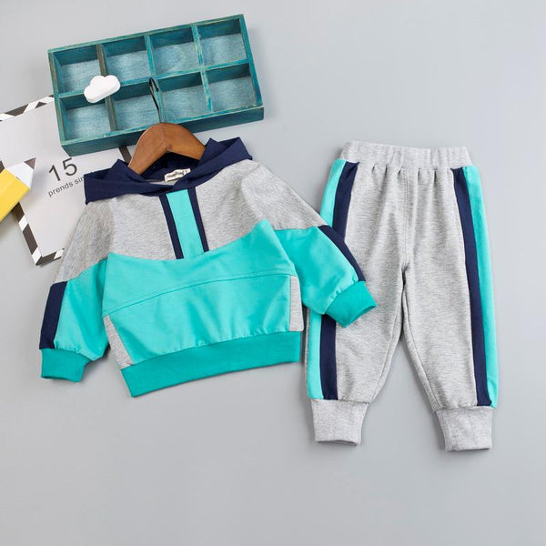 Color Blocking Track Suit - The Childrens Firm