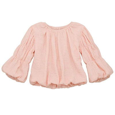 Round Neck Chiffon Blouse - The Childrens Firm