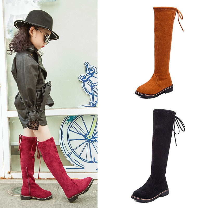 Knee-high Trendy Fall Boots - The Childrens Firm