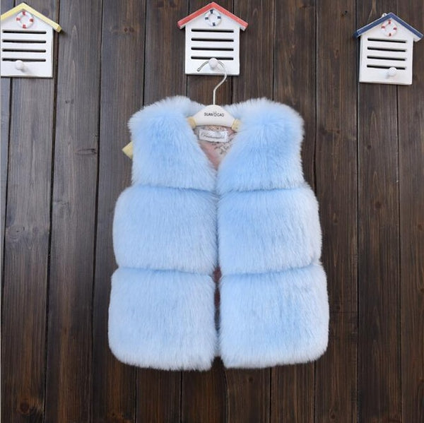 Posh Baby Faux Fur Solid Color Vest - The Childrens Firm