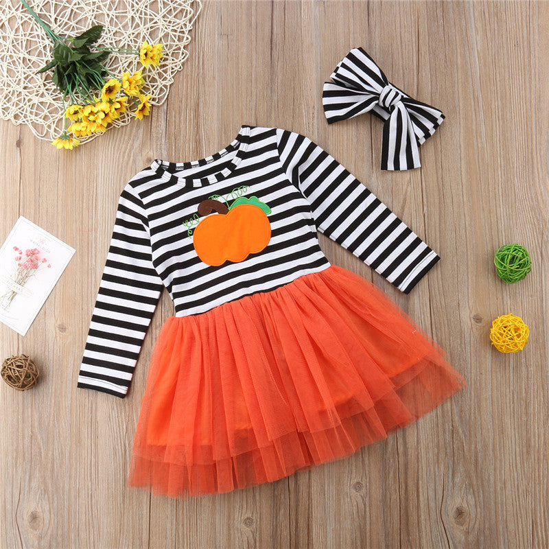 Pumpkin Tulle Dress - The Childrens Firm