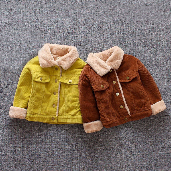 Wool Fur Corduroy Jacket - The Childrens Firm
