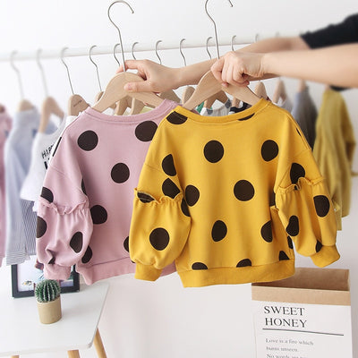 Polka Dot Puffy Sweater - The Childrens Firm