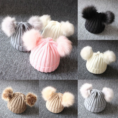 Poof Ball Beanie Cap - The Childrens Firm