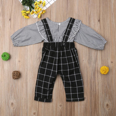 Plaid & Stripes Jumpsuit - The Childrens Firm