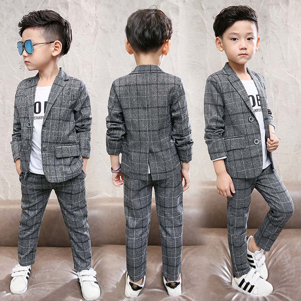 Plaid Formal Boys Suit - The Childrens Firm