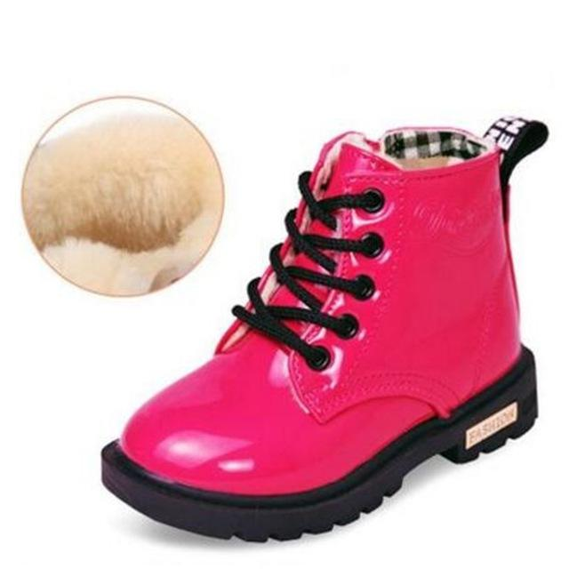 Rubber Patent Leather Baby Boots - The Childrens Firm