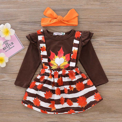 3Pcs Autumn Leaves Drsss - The Childrens Firm