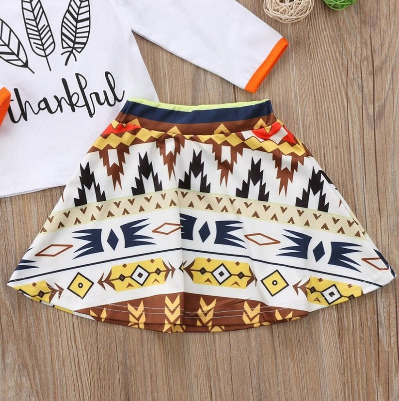 3Pcs Thankful Skirt Set - The Childrens Firm