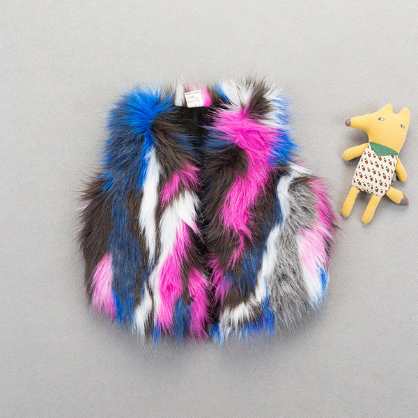 Colorful Fur Galore Vest - The Childrens Firm