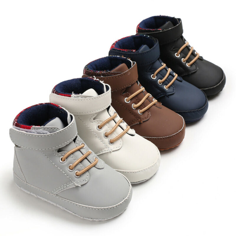 Hightop Strapped Baby Booties