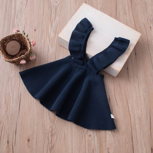 Knitted Suspender Flare Dress