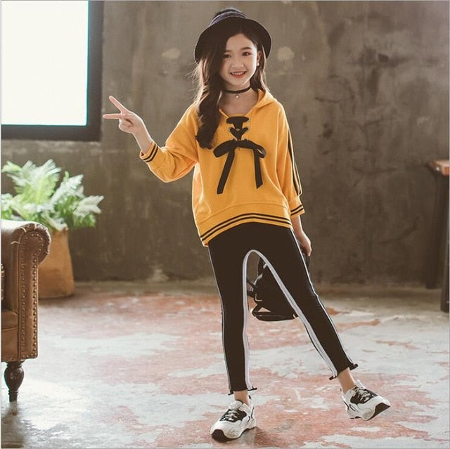 Hooded Top With Leggings - The Childrens Firm