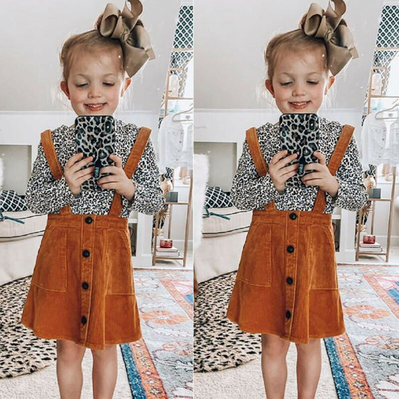 Leopard Suspender Dress - The Childrens Firm