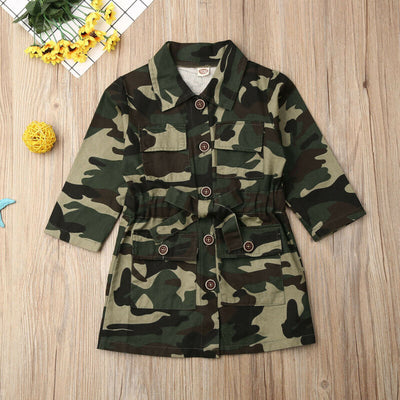 Camo Trench Coat - The Childrens Firm