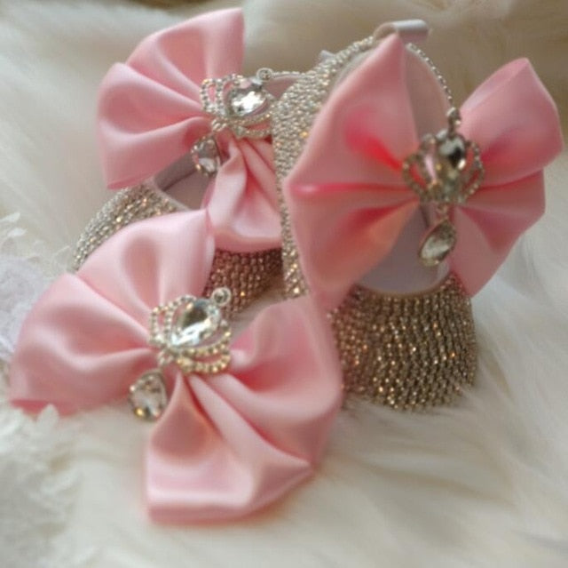 Babydoll Crown Bling Shoes with Headband - The Childrens Firm