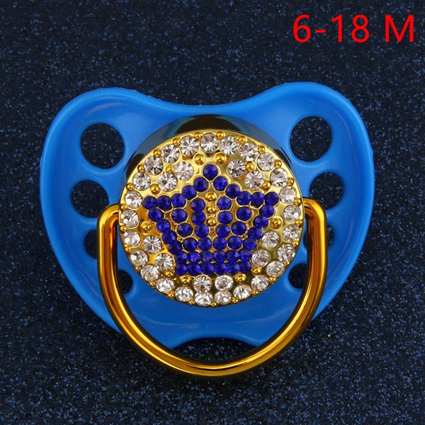 Bling Bling Crown Pacifier - The Childrens Firm