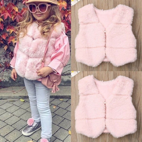 Baby Chic Faux Fur Vest - The Childrens Firm