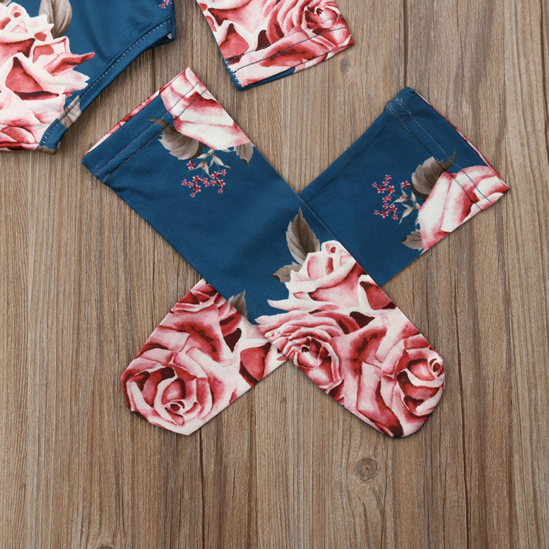 Floral Baby Onesie+ Leg Warmers - The Childrens Firm