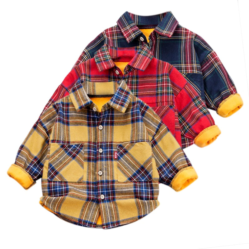 Plaid Long Sleeve Shirt - The Childrens Firm