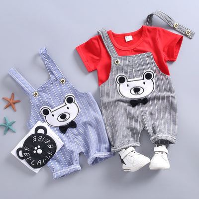 Fresh Striped Overall Set - The Childrens Firm