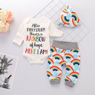 Rainbow Baby 3pc Outfit Set - The Childrens Firm