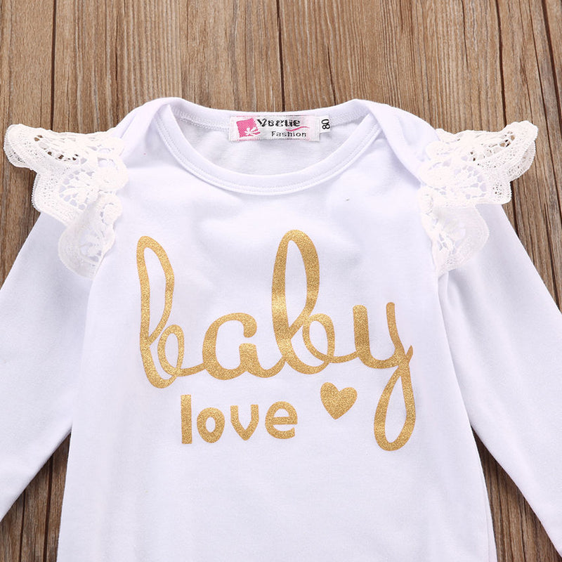 Pink & Gold Baby Love Set - The Childrens Firm