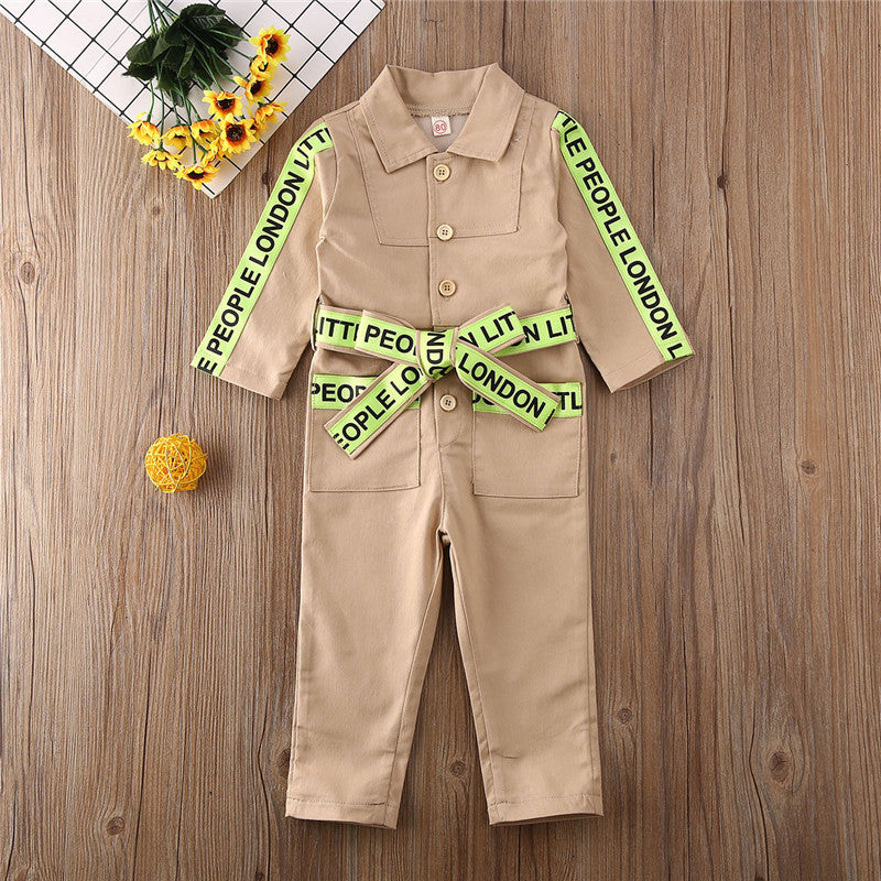 LP Khaki Jumpsuit - The Childrens Firm