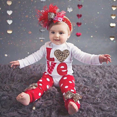 Newborn Valentine Leg Warmer Set - The Childrens Firm