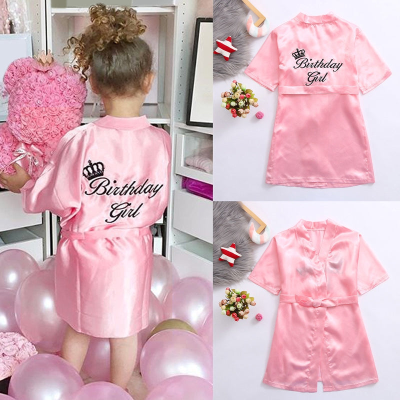 Satin Birthday Girl Robe - The Childrens Firm