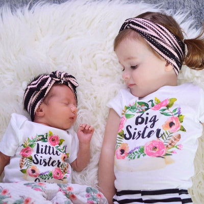 Big & Little Sister Matching Floral Tees - The Childrens Firm