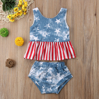 Faded Fourth Of July Sunsuit - The Childrens Firm
