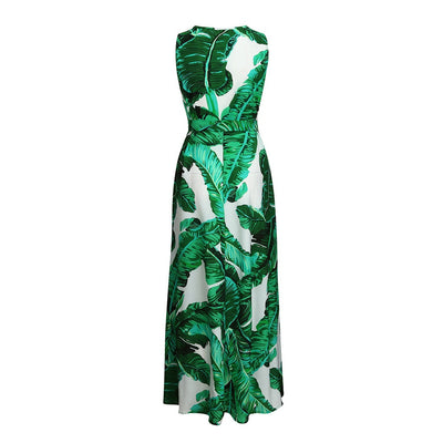 Green Palm Maternity Dress - The Childrens Firm