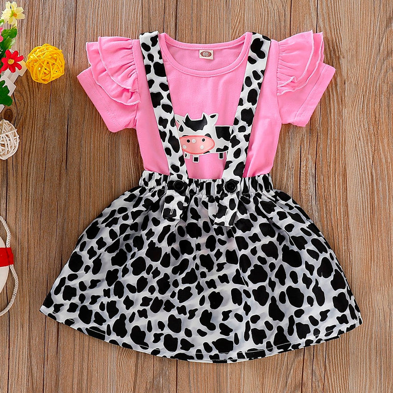 Girly Cow Suspender Dress - The Childrens Firm