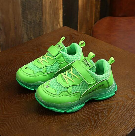 Neon Strapped Sneakers - The Childrens Firm