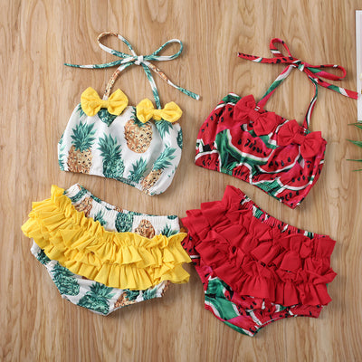 Fruits Galore Ruffle Swimsuit - The Childrens Firm