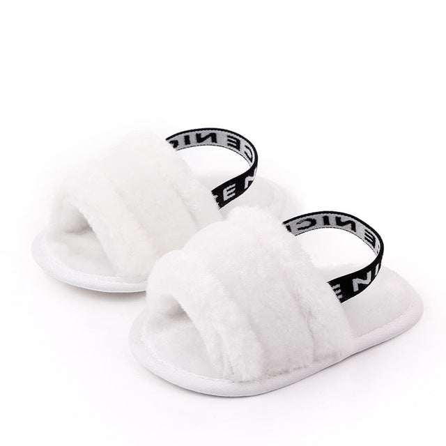 Nice Faux Fur Sandals - The Childrens Firm