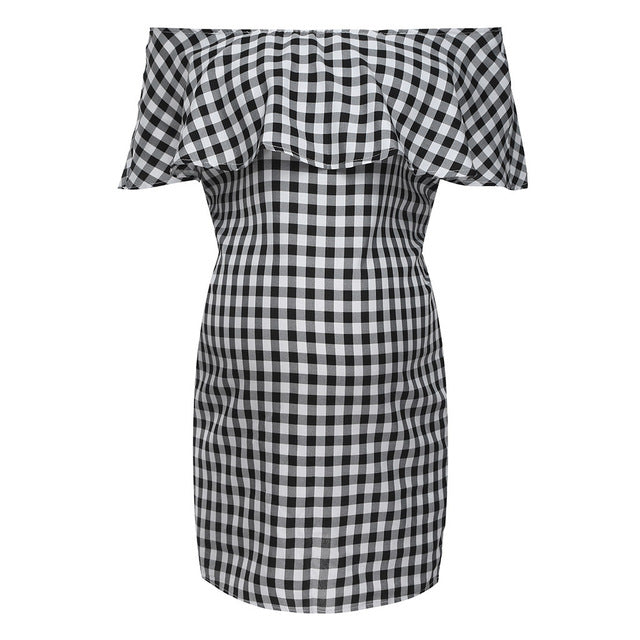 Checkerboard Maternity Dress - The Childrens Firm