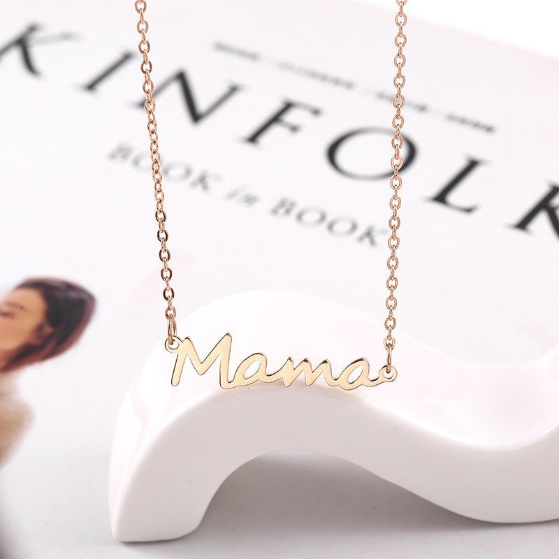 Mama Nameplate Necklace - The Childrens Firm