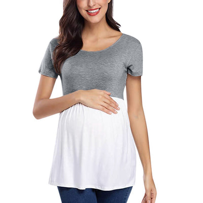Maternity 2 Toned Top - The Childrens Firm