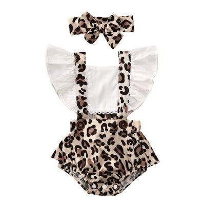 Sweet Leopard Romper - The Childrens Firm