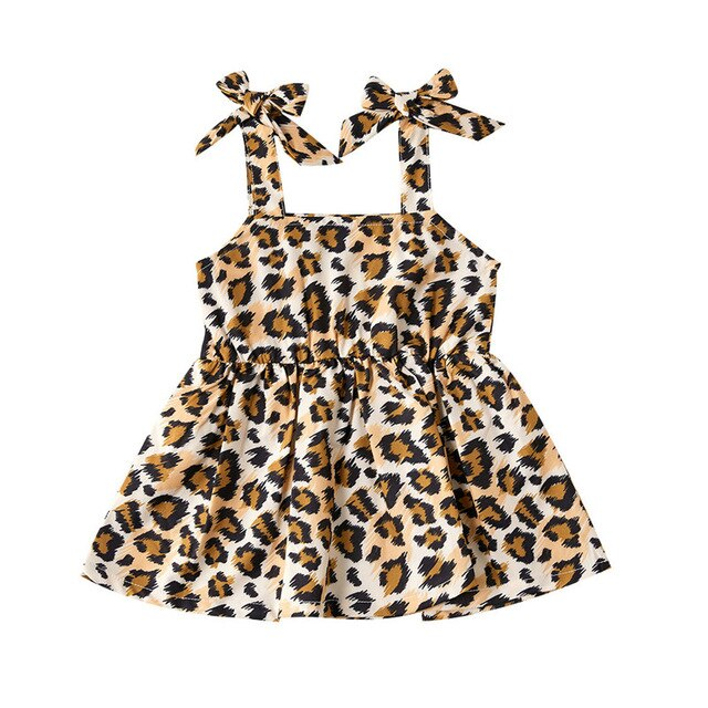 Summer Leopard Strap Dress - The Childrens Firm