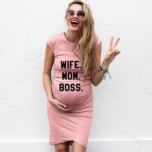 Wife Mom Boss Dress - The Childrens Firm
