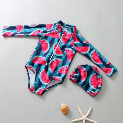 Melon Long sleeve Swimsuit - The Childrens Firm
