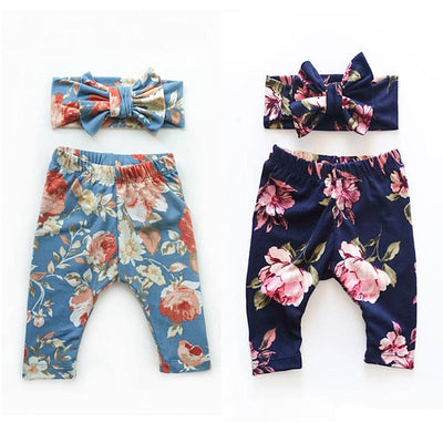 Floral Bottoms with Headband - The Childrens Firm