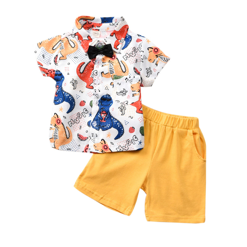 Dino Print Shorts Set - The Childrens Firm