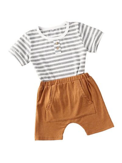 Boys Striped Shorts Set - The Childrens Firm