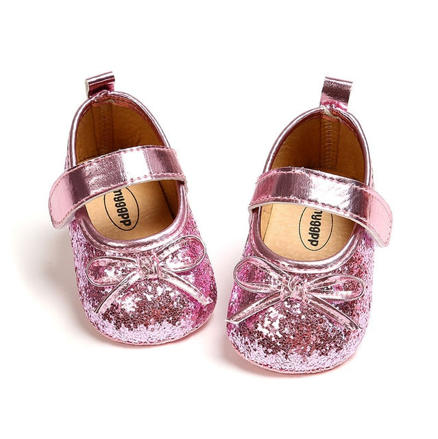 Baby Girl's Soft Soled Princes Flats